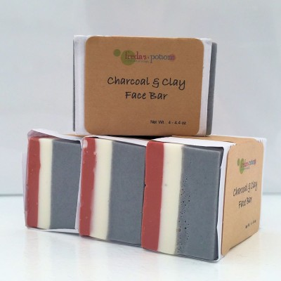 Charcoal and clay face bar