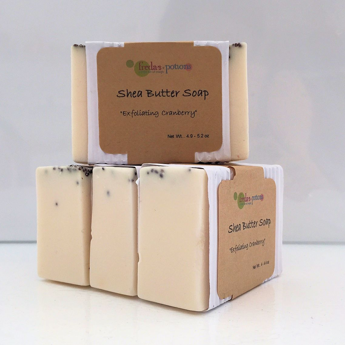 Exfoliating Cranberry Shea Butter Soap