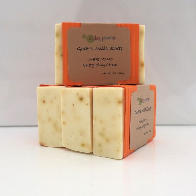 wake me up goat's milk soap